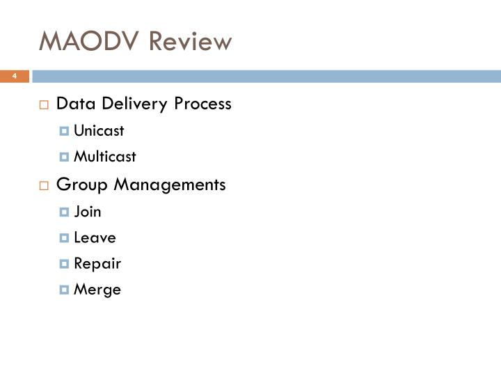MAODV Review