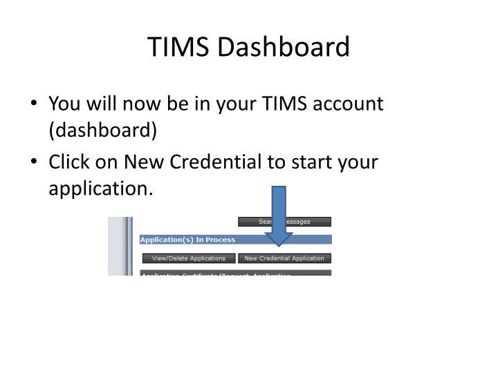TIMS Dashboard