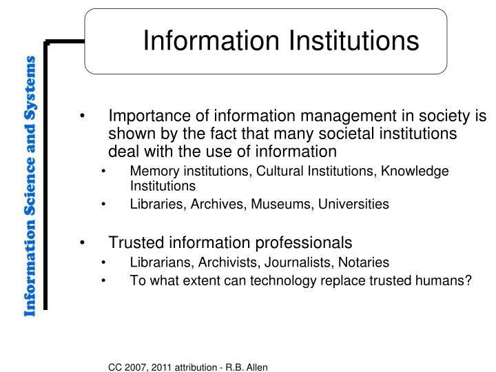 importance of information Information technology, while an important area of study in its own right, is having a major impact across all curriculum areas easy worldwide communication provides instant access to a vast array of data, challenging assimilation and assessment skills.