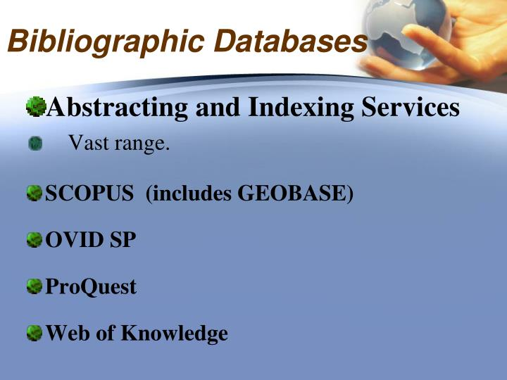 Bibliographic Databases