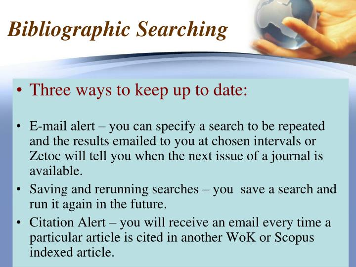 Bibliographic Searching