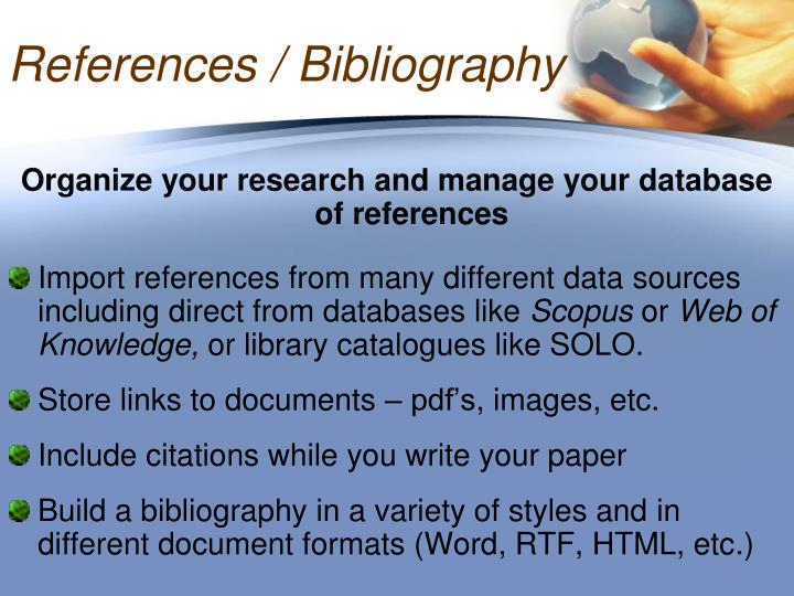 References / Bibliography