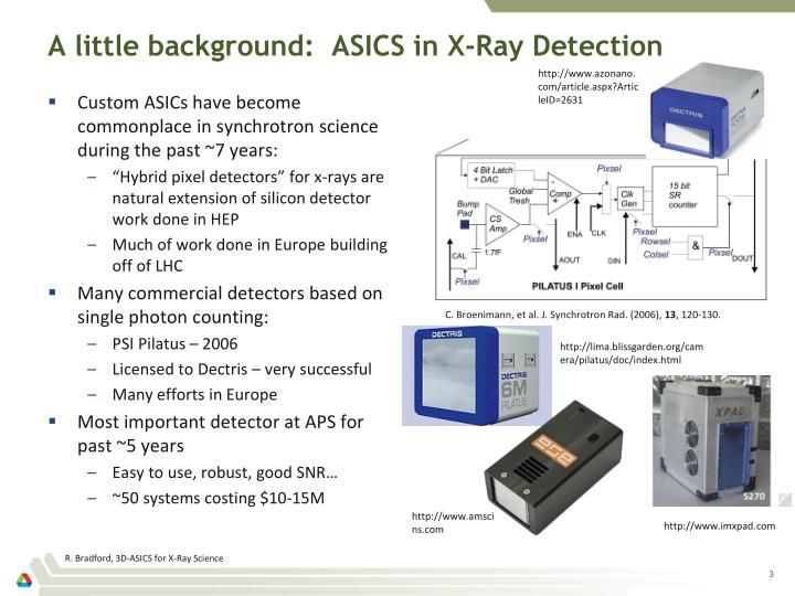 A little background asics in x ray detection