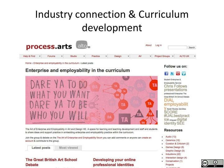 Industry connection & Curriculum development