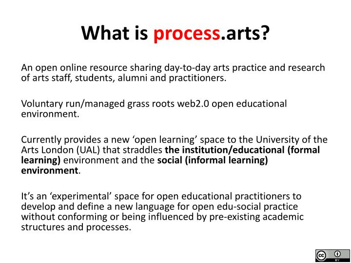What is process arts
