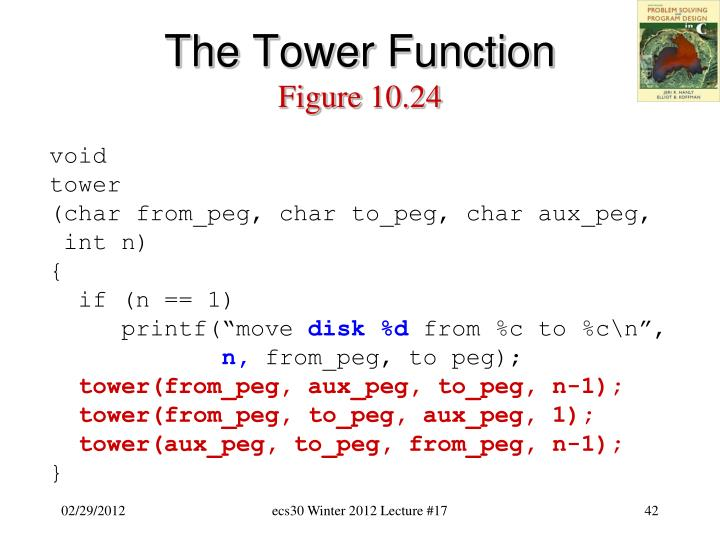 The Tower Function