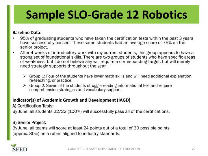 Sample SLO-Grade