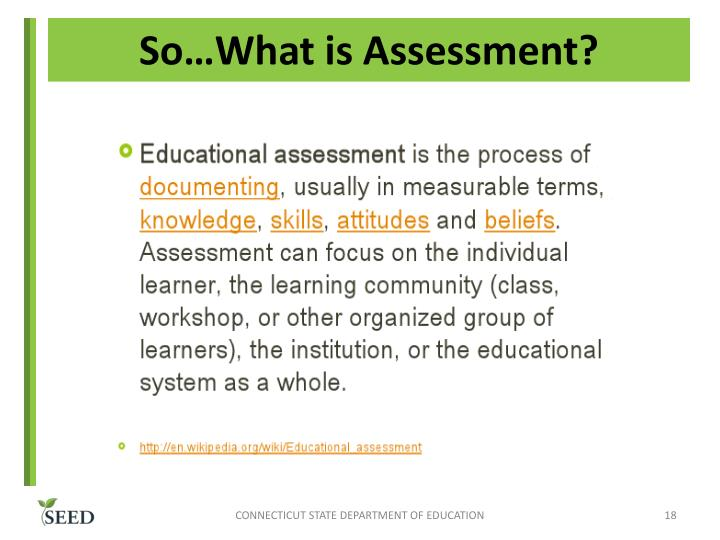 So…What is Assessment?