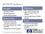 hp swot analysis