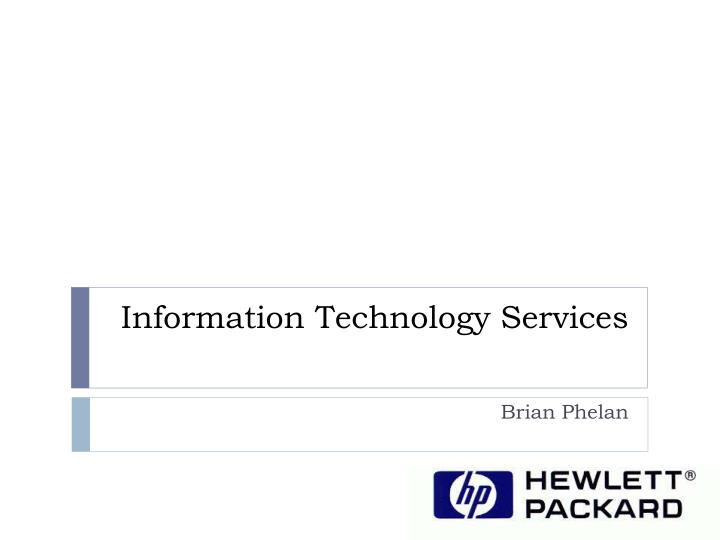 information technology services n.