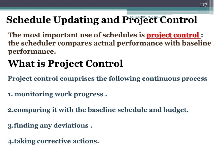 Schedule Updating and