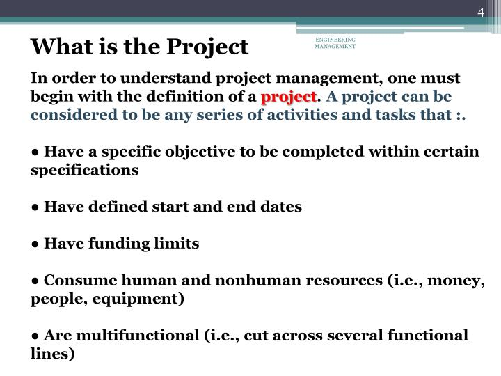 What is the Project