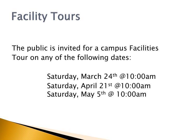 Facility Tours