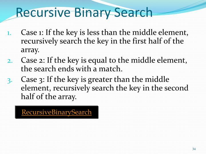 Recursive Binary Search
