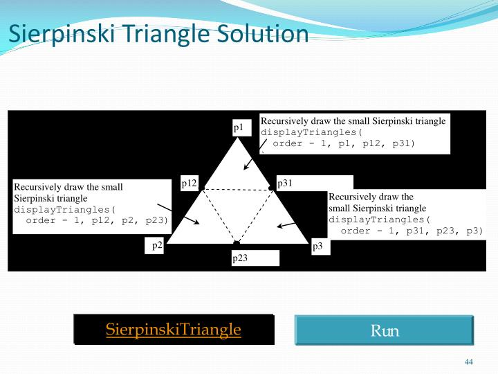 Sierpinski Triangle Solution