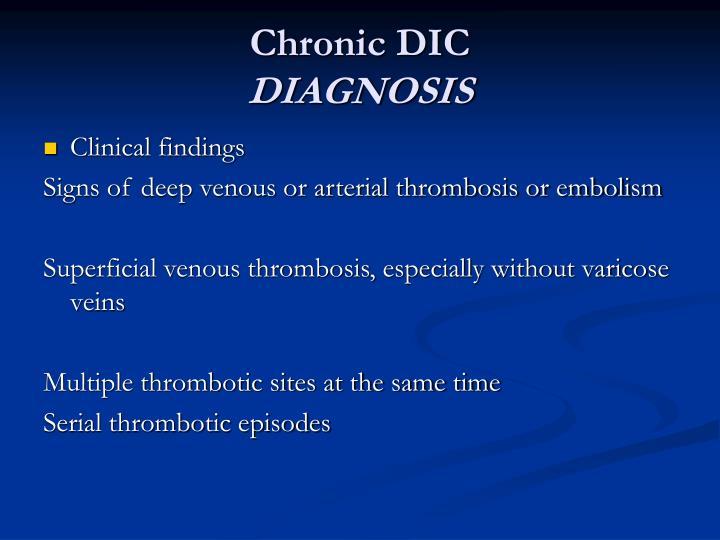 Chronic DIC
