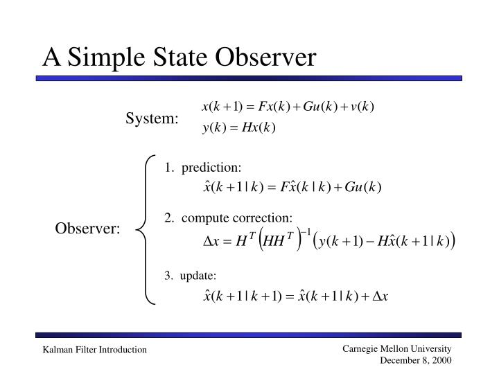 A Simple State Observer