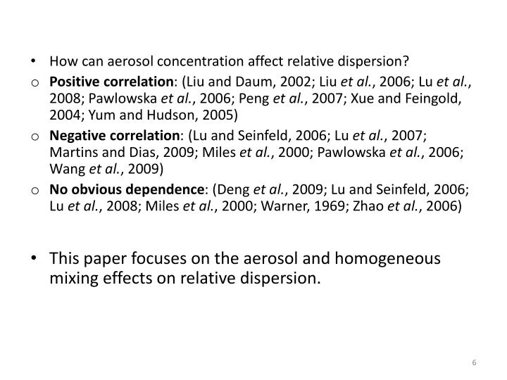 How can aerosol