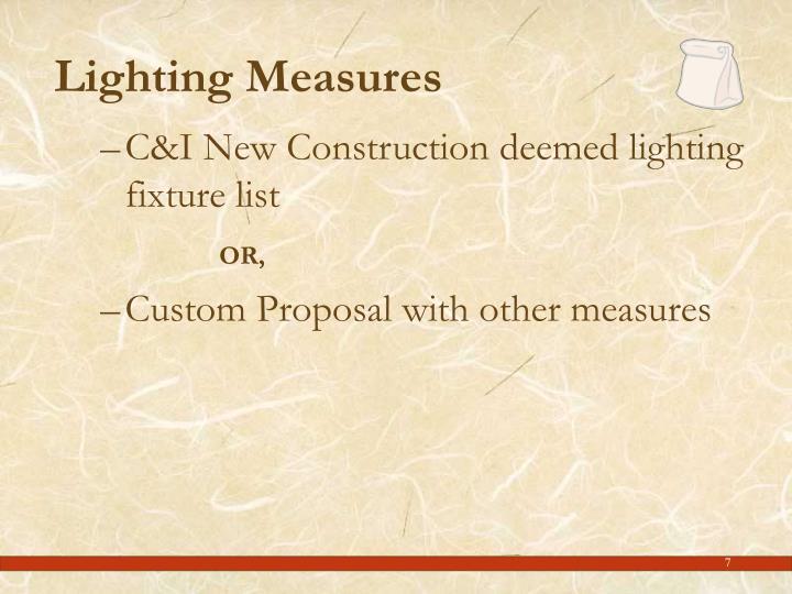 Lighting Measures