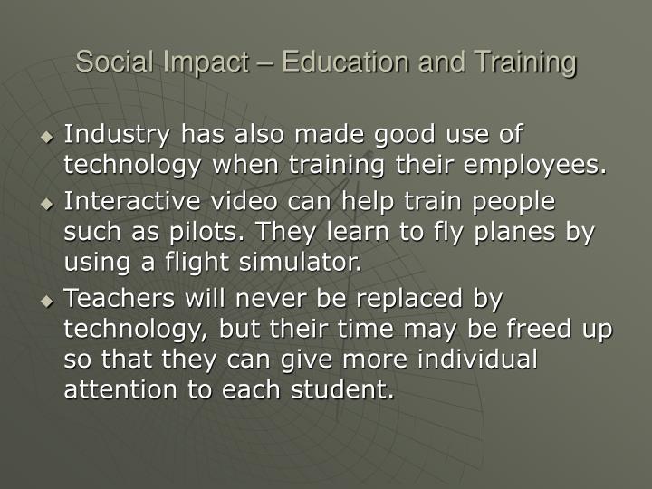 Social Impact – Education and Training