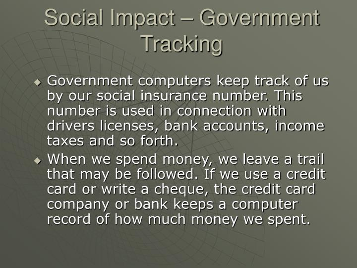 Social Impact – Government Tracking
