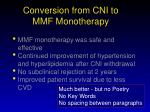 conversion from cni to mmf monotherapy1
