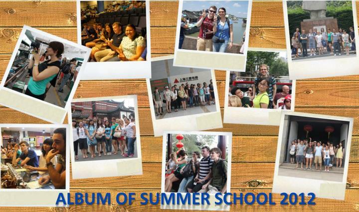 Album of Summer School 2012