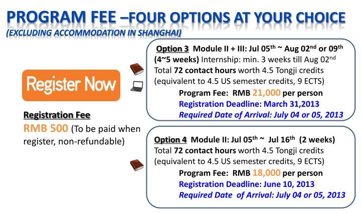 Program fee