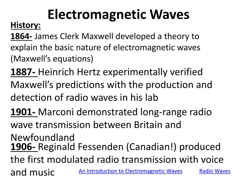 PPT - Electromagnetic Waves PowerPoint Presentation, free download -  ID:2398633