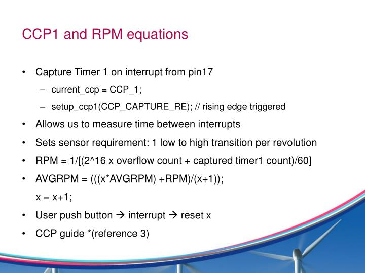 CCP1 and RPM equations