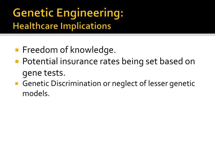 Genetic Engineering: