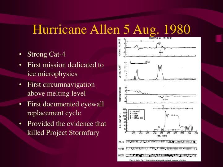 Hurricane Allen 5 Aug. 1980