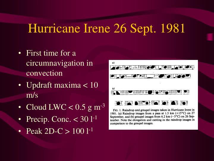 Hurricane Irene 26 Sept. 1981