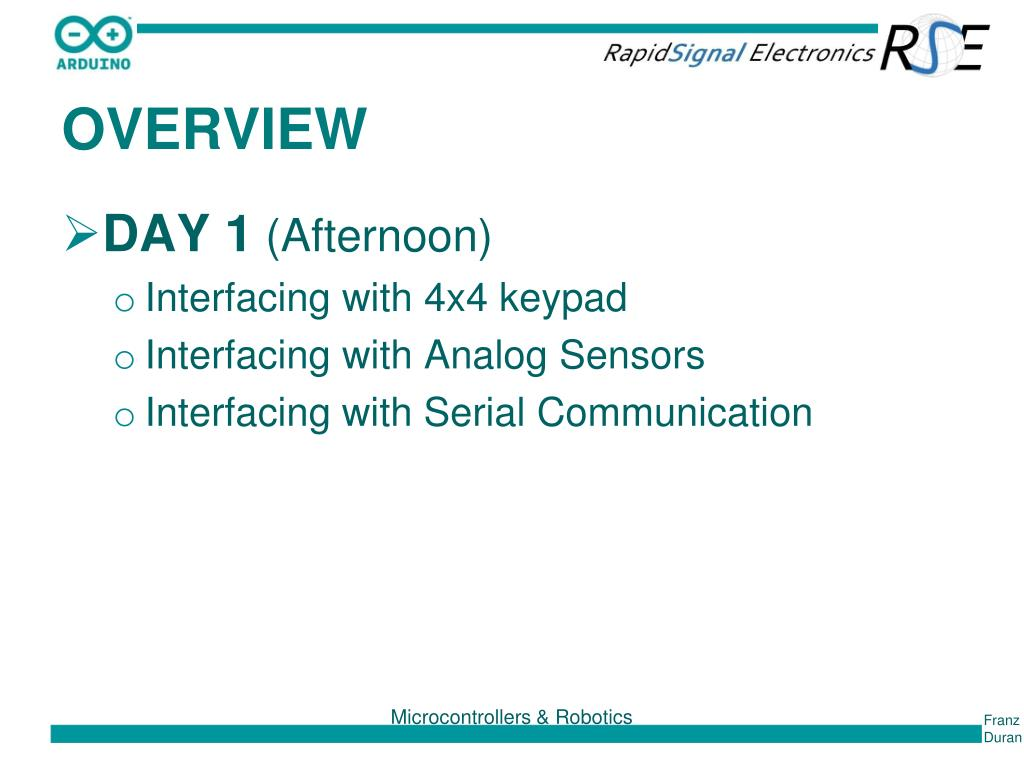 PPT - INTRODUCTION TO A RDUINO PROGRAMMING & INTERFACING