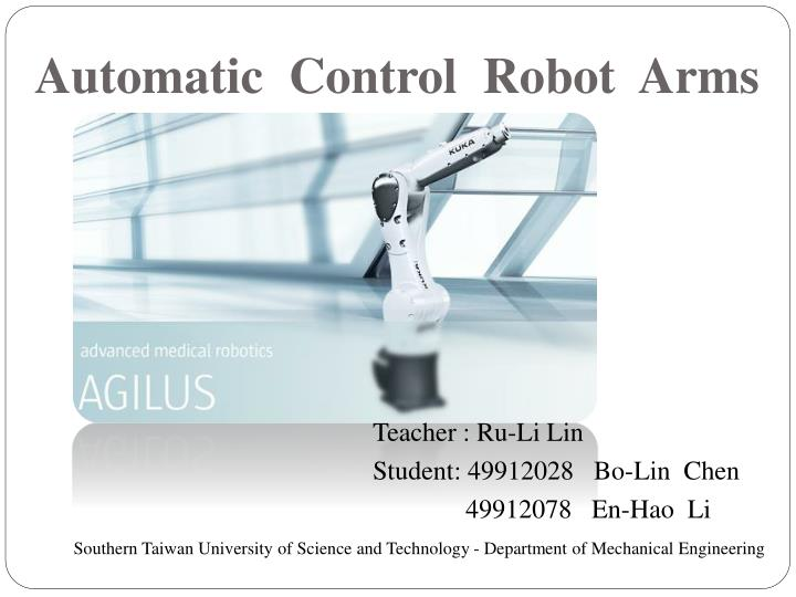 automatic control robot arms n.