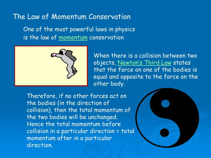 an analysis of the law of conservation of momentum in physics