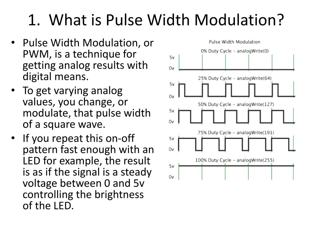 Ppt 1 What Is Pulse Width Modulation Powerpoint Presentation A Circuit To Control Motor Speed Uses Pwm N