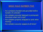 basic rule number five1