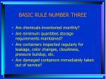 basic rule number three1