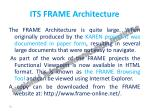 its frame architecture1