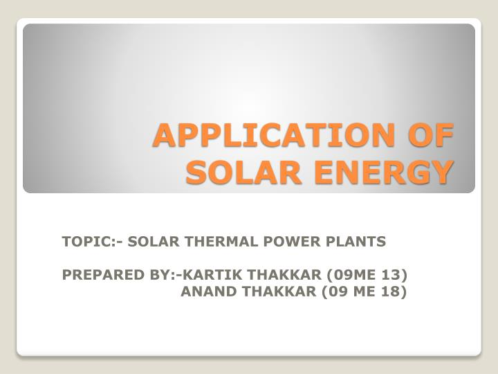 Ppt concentrated solar thermal energy csiro research.