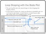 loop shaping with the bode plot