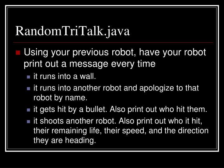 RandomTriTalk.java
