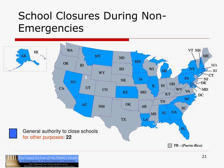 School Closures During Non-Emergencies