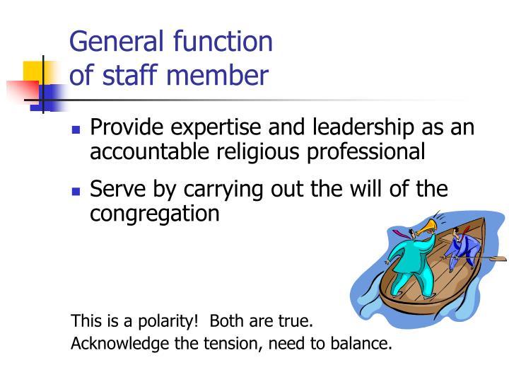 General function