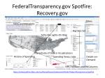 federaltransparency gov spotfire recovery gov