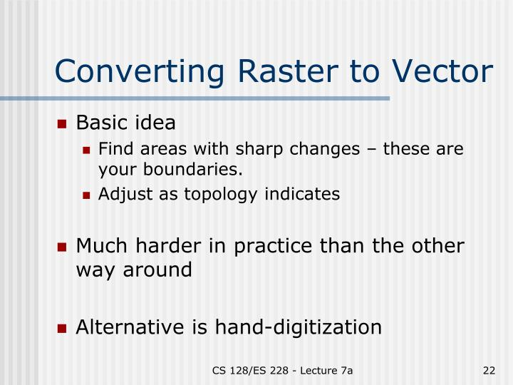 Converting Raster to Vector