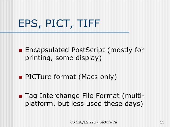 EPS, PICT, TIFF