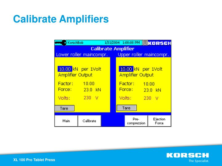 Calibrate Amplifiers