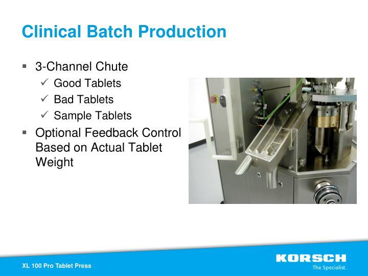 Clinical Batch Production